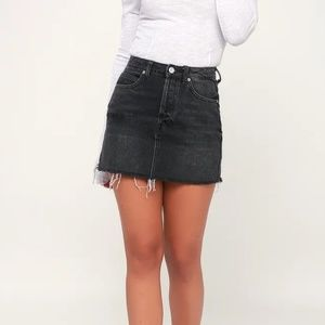 NWT FREE PEOPLE BLACK JEAN SKIRT SIZE 27